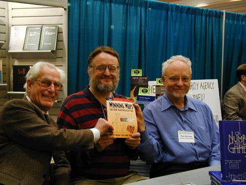 Richard Guy, John Conway, and Elwyn Berlekamp, back when