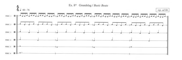 "Exercise 8 from Per Norgard's ""Drumbook"""