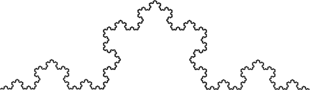 One-sixth of a Koch snowflake