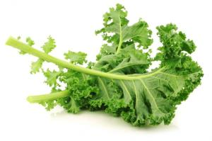 Kale: a negatively-curved vegetable.